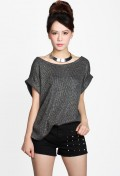 Raven Cuffed Shimmer Knit