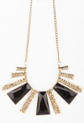 Noir Sunburst Necklace